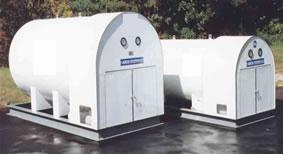Horizontal CO2 Storage Tank