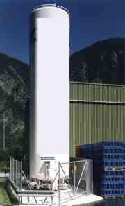 Vertical CO2 Storage Tank